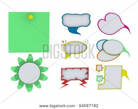Cloud Sticker Dialogue Thoughts Pure White Background