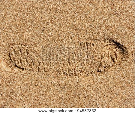 Sand Texture With Footprint