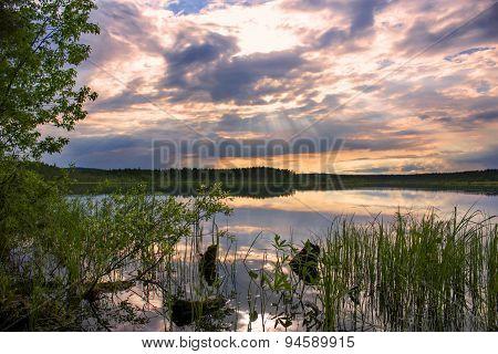 Summer Landscape. Lake Topozero. North Karelia.