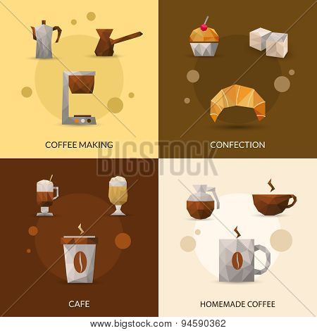 Coffee And Confectionery Icon Set