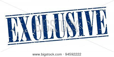 Exclusive Blue Grunge Vintage Stamp Isolated On White Background