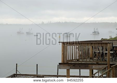 Fishing Fleet In Fog