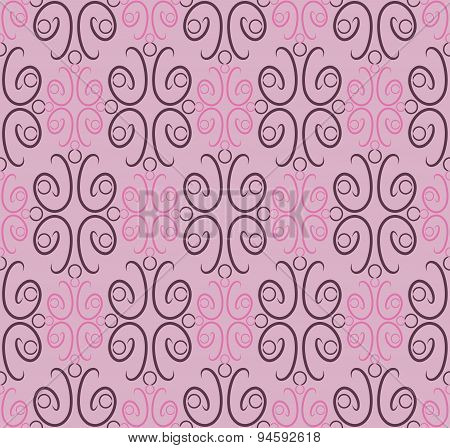 Seamless pattern, ornamental wallpaper, vector illustration