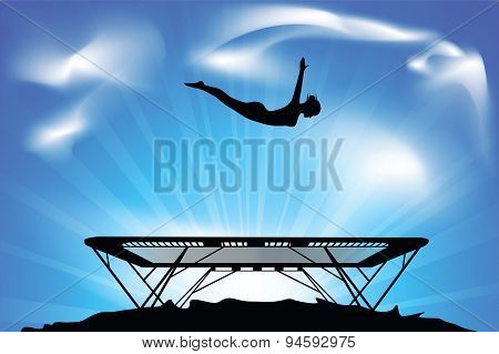 jump on a trampoline
