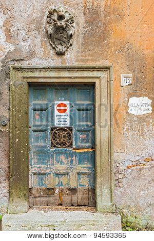 Entrance Door In Rome, Italy
