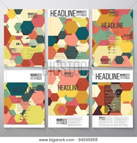 Geometric background, abstract hexagonal pattern vector. Business vector templates for brochure, fly