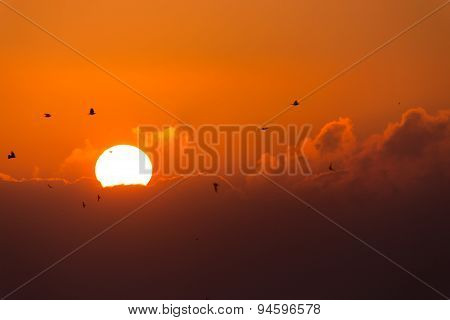 Sunrise With Clouds