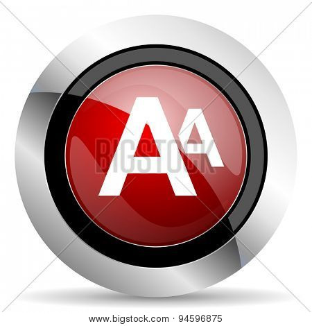 alphabet red glossy web icon original modern design for web and mobile app on white background