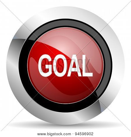 goal red glossy web icon original modern design for web and mobile app on white background