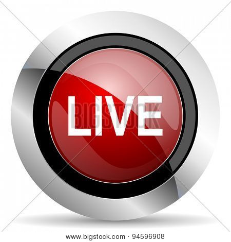 live red glossy web icon original modern design for web and mobile app on white background