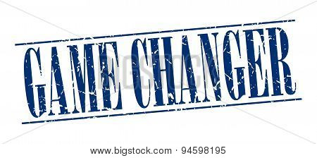 Game Changer Blue Grunge Vintage Stamp Isolated On White Background