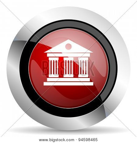 museum red glossy web icon original modern design for web and mobile app on white background