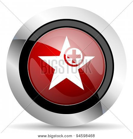 star red glossy web icon original modern design for web and mobile app on white background