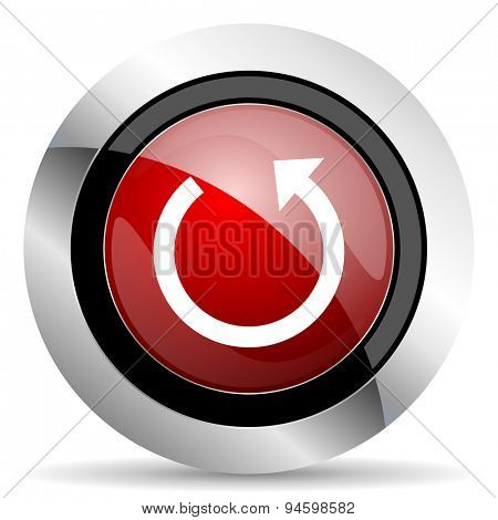 rotate red glossy web icon original modern design for web and mobile app on white background