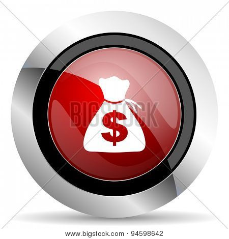 money red glossy web icon original modern design for web and mobile app on white background