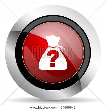 riddle red glossy web icon original modern design for web and mobile app on white background