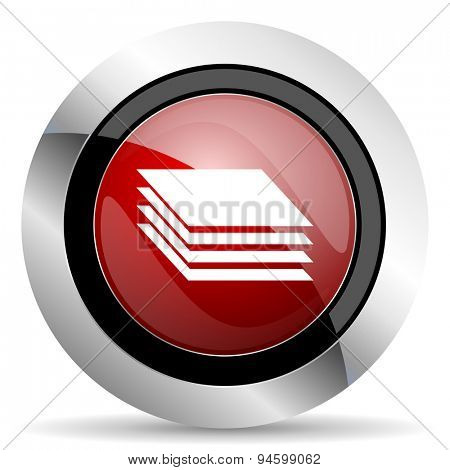 layers red glossy web icon original modern design for web and mobile app on white background