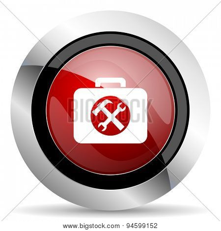 toolkit red glossy web icon original modern design for web and mobile app on white background