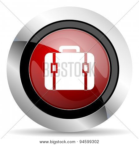 bag red glossy web icon original modern design for web and mobile app on white background