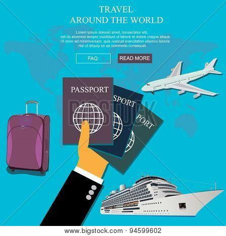 around, world, travel, vocation, concept