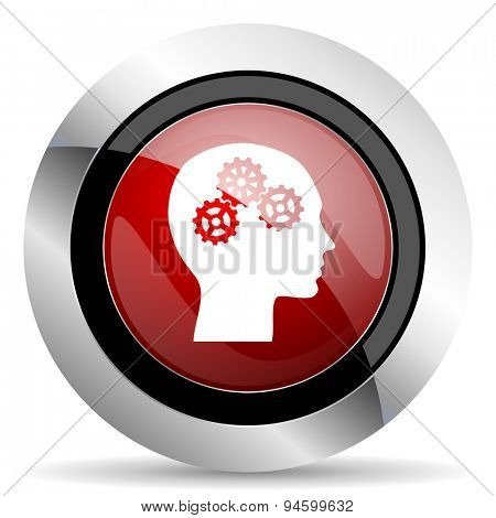 head red glossy web icon original modern design for web and mobile app on white background