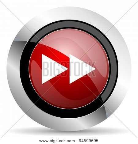 rewind red glossy web icon original modern design for web and mobile app on white background