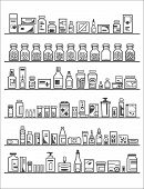 image of testicle  - Medical and Health Care Icons pharmacy shelves - JPG
