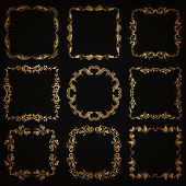 pic of brocade  - Vector set of decorative hand drawn elements - JPG