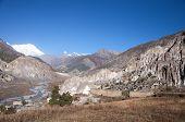 stock photo of sherpa  - Braga Gompa village in Nepal - JPG