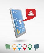 pic of attention  - Attention caution and perspective smartphone vector realistic - JPG