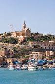 image of gozo  - Port of Mgarr on the small island of Gozo Malta - JPG