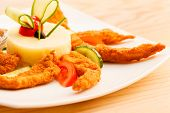 image of mashed potatoes  - chicken with mashed potatoes for kids menu - JPG