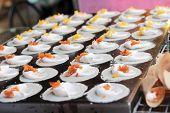 foto of crepes  - close up of thai crispy pancake  - JPG