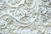 stock photo of gem  - texture of the Stucco white Artificial gem - JPG