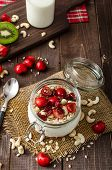 foto of wonderful  - Domestic cherry yogurt with wonder chia seeds and granula - JPG