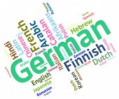 stock photo of dialect  - German Language Meaning Communication Foreign And Text - JPG