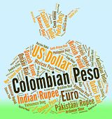 foto of colombian currency  - Colombian Peso Showing Foreign Exchange And Text - JPG
