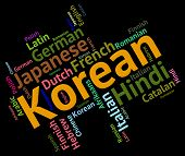 foto of korean  - Korean Language Meaning Communication Word And Speech - JPG
