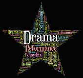 stock photo of drama  - Drama Star Indicating Theatres Text And Theater - JPG