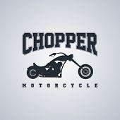 foto of chopper  - classic chopper motorcycle theme vector art illustration - JPG