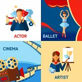 Постер, плакат: Art And Culture Design Concept Set