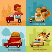 picture of ice-cream truck  - Mobile food stores and ice - JPG