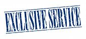 pic of exclusive  - exclusive service blue grunge vintage stamp isolated on white background - JPG