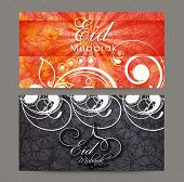 image of eid festival celebration  - Beautiful floral design decorated website header or banner set for holy Islamic festival - JPG