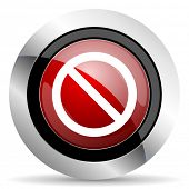 foto of denied  - access denied red glossy web icon original modern design for web and mobile app on white background  - JPG