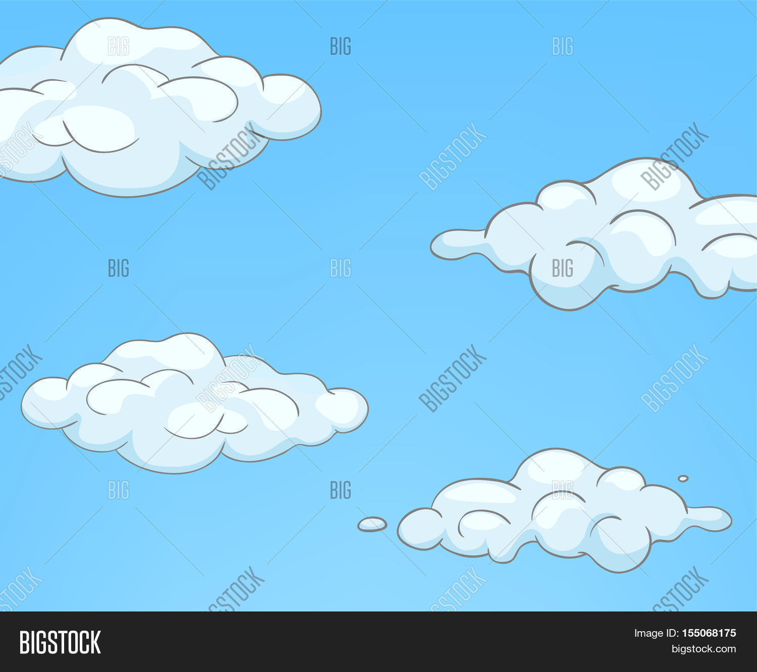hand drawn cartoon sky landscape image u0026 photo bigstock