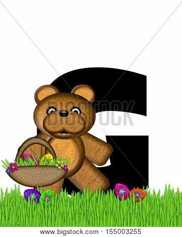 Alphabet Teddy Hunting Easter Eggs G