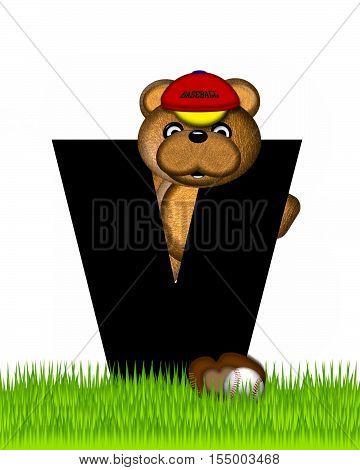Alphabet Teddy Baseball V