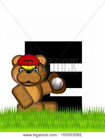 Alphabet Teddy Baseball E