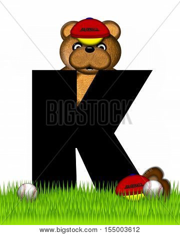 Alphabet Teddy Baseball K